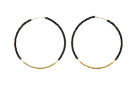 SIDAI DESIGNS earring/black-gold-ivory