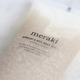 MERAKI abricot&rice body scrub