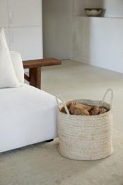 THE DHARMA DOOR  large round jute basket