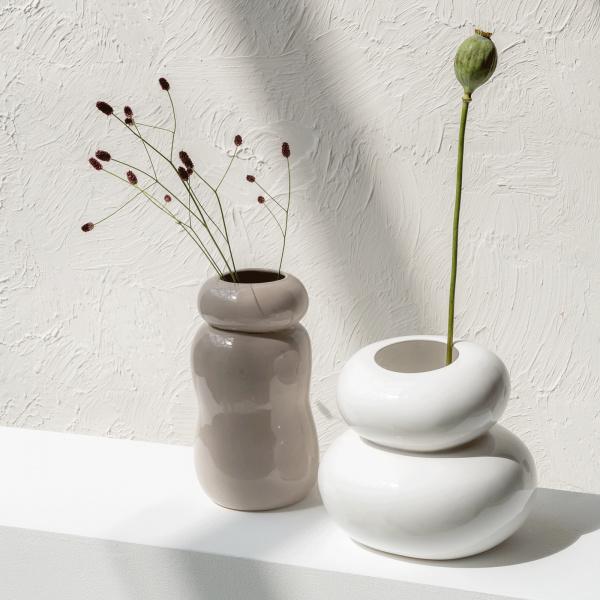 UNC vase PEBBLES WHITE