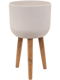 Pottery Pots Refined Retro with feet Logan Natural White S