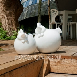 Pottery Pots Chicken  / Kip M