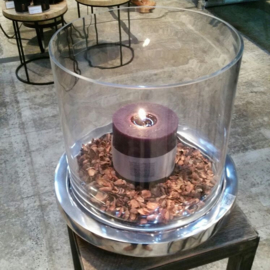 Bob  Aluminium Candle plate + glass