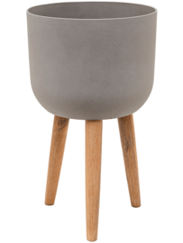 Pottery Pots Refined Retro with feet Logan Clouded Grey M