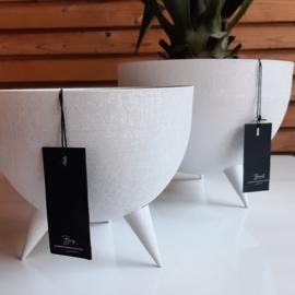 Bob iron planter leather white ( S )