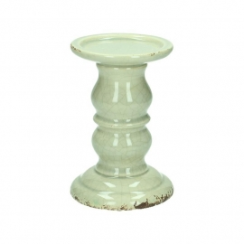 Candle holder Ceramic Grey