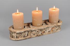 Rasteli Kaarsenhouder voor 3 kaarsen