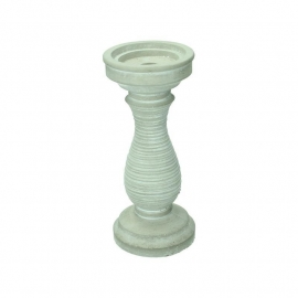 Candle holder cement grey