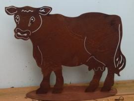Koe op plaat roestijzer