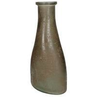 Vase recycled glass Brown