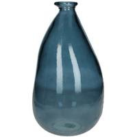 Vase recycled Glass Blue
