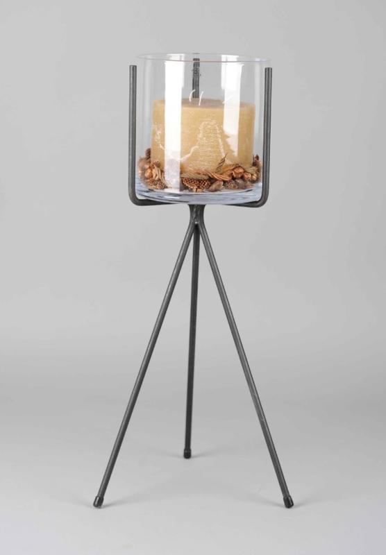 Rasteli Cilindervaas + ijzeren staander 80 cm