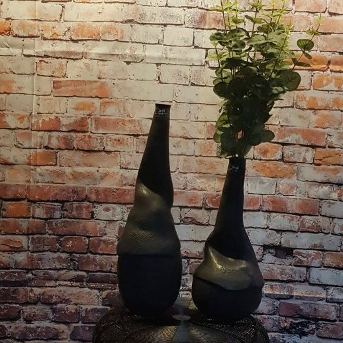 Bob Greek Masterpiece vase L Black