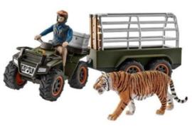 quad met aanhangwagen en ranger 42351