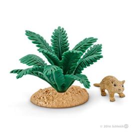 gerbil met plant 42323