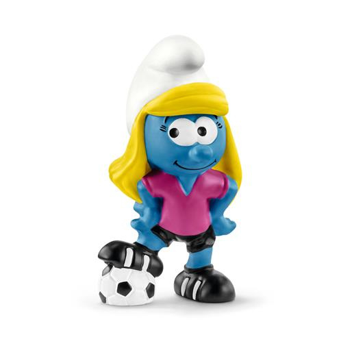 Smurfin voetbalspeelster 20805