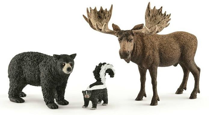 set Noord-Amerikaanse bosdieren 41456