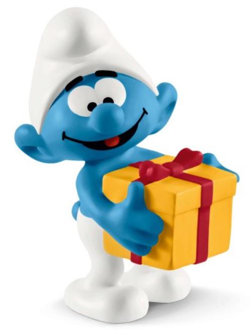 smurf met cadeau 20816