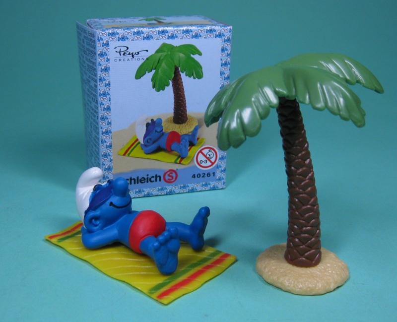 smurf onder palmboom 40261