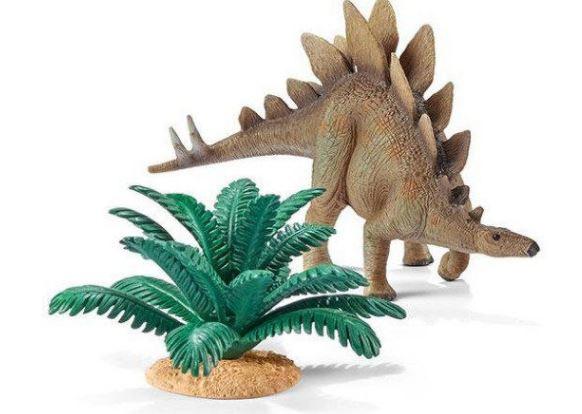 stegosaurus met plant