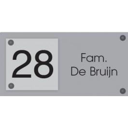 Acrylaat naamborden GM-080 20x10cm