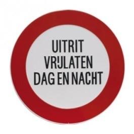 GA029 verbod uitrit dag en nacht rond 40cm