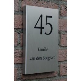 Aluminium naambord ALUGB-010 12x15cm