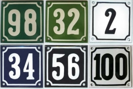 Emaille huisnummerborden