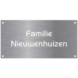 Aluminium naamborden BG-23 12x6cm
