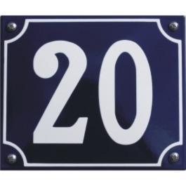 Emaille huisnummer gebold 17x13