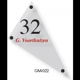 Acrylaat naamborden GM-022 15x25cm
