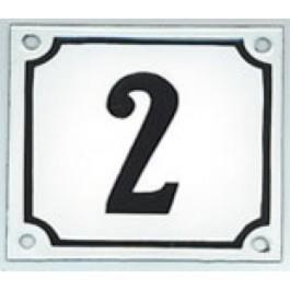 Emaille huisnummer gebold 18x15