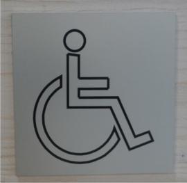Gegraveerde pictogrammen aluminium