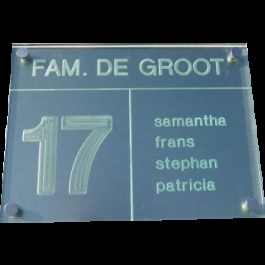 Acrylaat naamborden BG-4110 20x15cm