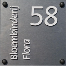Acrylaat naamborden BG-2013 17x17cm
