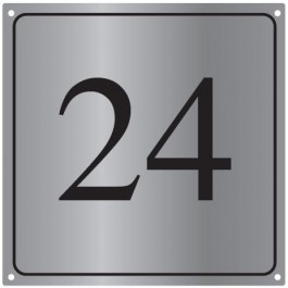 Aluminium huisnummerborden BGA-13 12x12cm