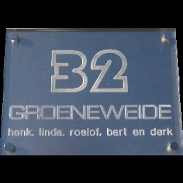 Acrylaat naamborden BG-4120 20x15cm