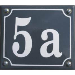Emaille huisnummer gebold 17x12