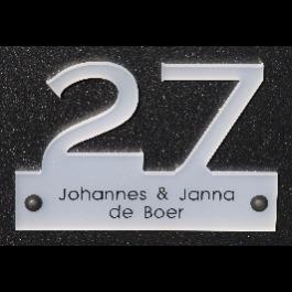 Acrylaat naamborden BG-2028 18,5x12cm