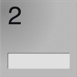 Naamplaathouders met nummer en naamplaatje