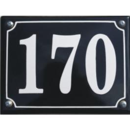 Emaille huisnummer gebold 15x13