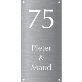 Aluminium naamborden BG-27 6x12cm
