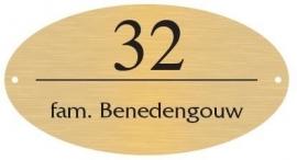 Messing naamborden BGM-07 ovaal 18x10cm