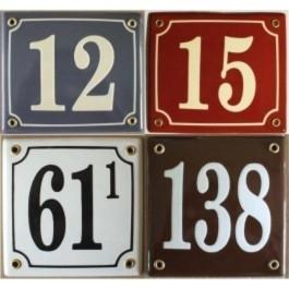 Emaille huisnummer gebold 17x17