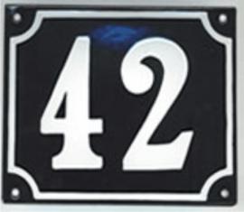 Emaille huisnummer gebold 20x16