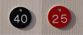 Ronde nummerbordjes resopal