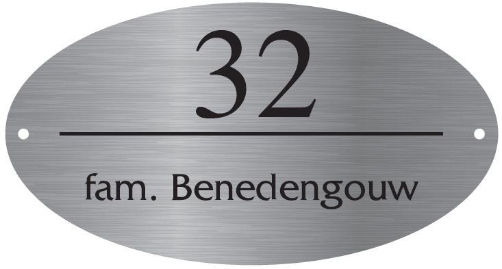 RVS Naamborden BGK-07 18x10cm