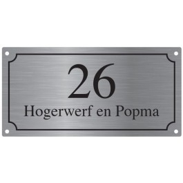 Aluminium naamborden BGA-02 24x12cm