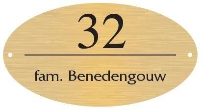 Messing naamborden BGM-09 ovaal 27x15cm