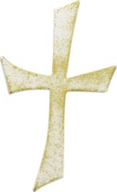 Wax kruis 100 x 55 mm goud